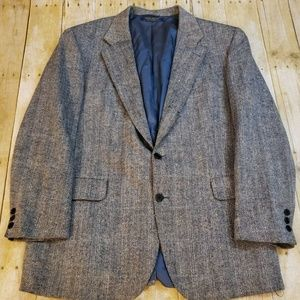 Vtg Brooks Brothers Gray Tweed Sport Coat Size 42R